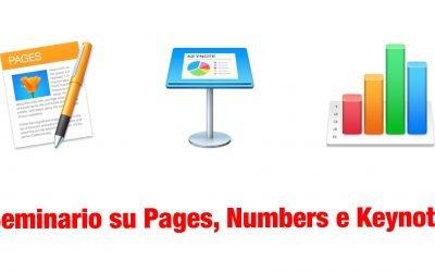 Seminario sulle novità di Pages, Numbers e Keynote